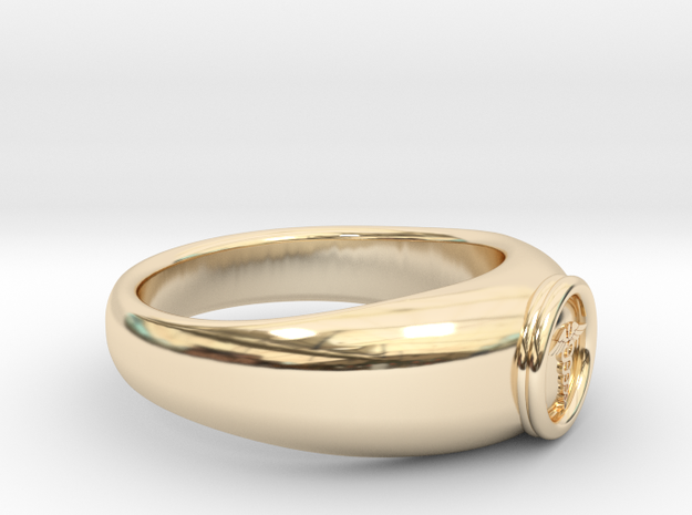 0.768 inch/19.51mm Medical Ring in 14k Gold Plated Brass