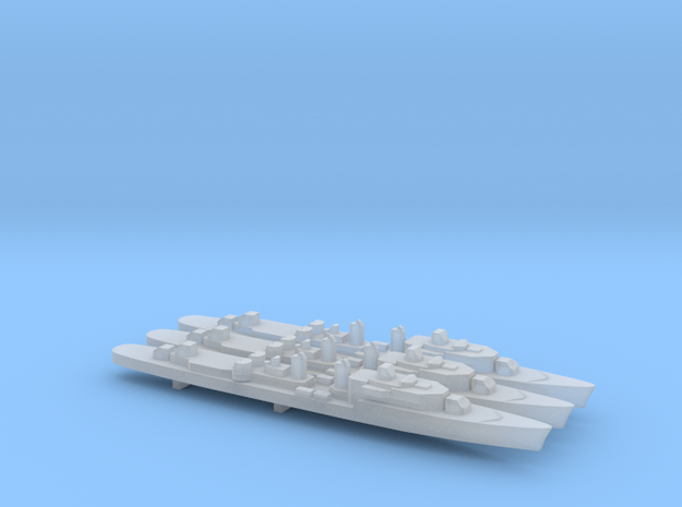 T47 Class Command Destroyer (1962) x 3, 1/2400 in Smooth Fine Detail Plastic