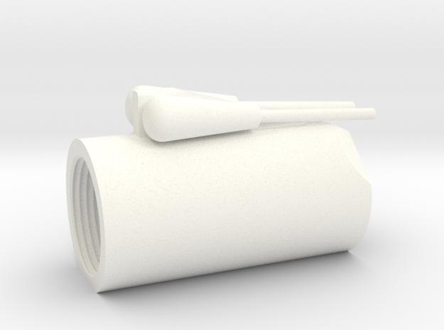 Han ANH DL44 Barrel in White Processed Versatile Plastic