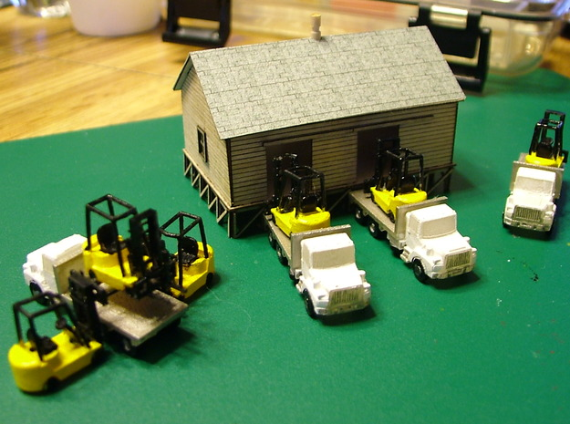 Forklift Set - Zscale 3d printed Photo thanks to Walter Smith @southernnscale