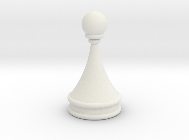 Courier chess pawn in White Strong & Flexible