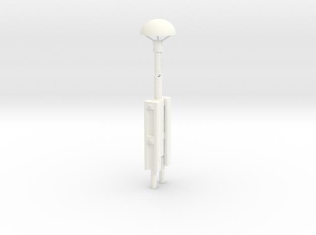 S2-233   Pilzlampe  in White Processed Versatile Plastic
