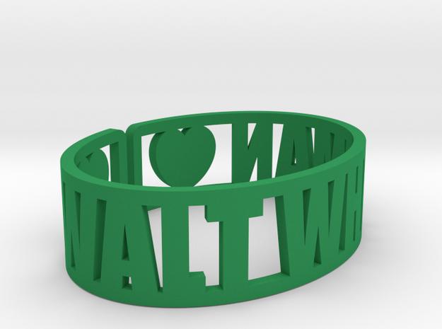 Walt Whitman Cuff in Green Processed Versatile Plastic