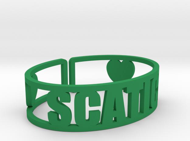 Scatico Cuff in Green Processed Versatile Plastic