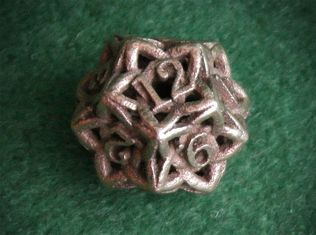 Celtic D12 3d printed Printed in Stainless Steel