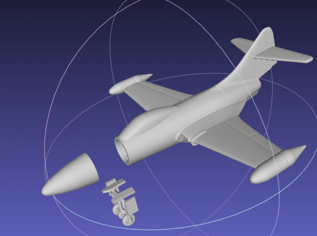 1/144 F9F Panther in White Natural Versatile Plastic