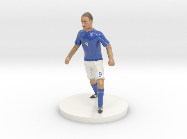 Italian Football Player in Glossy Full Color Sandstone
