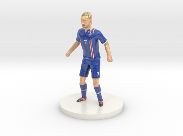 Icelandic Football Player in Glossy Full Color Sandstone
