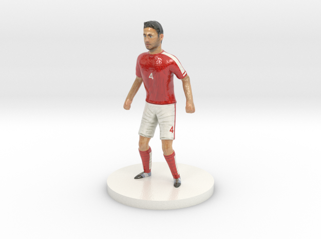 Austrian Football Player in Glossy Full Color Sandstone