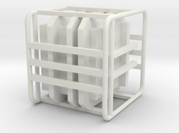 Sulaco Box with Rail 1:18 in White Natural Versatile Plastic