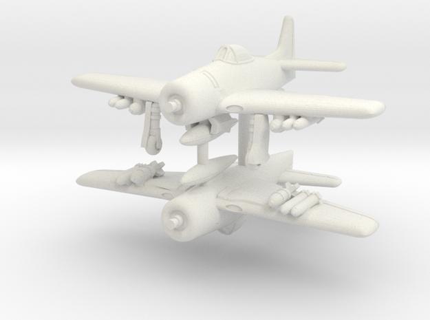 1/350 Grumman F8F-1 Bearcat in White Natural Versatile Plastic