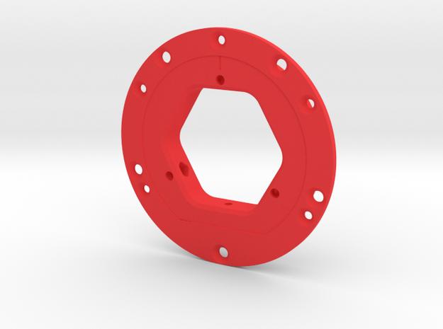 Imp3dDisco 98x3+anillo in Red Processed Versatile Plastic