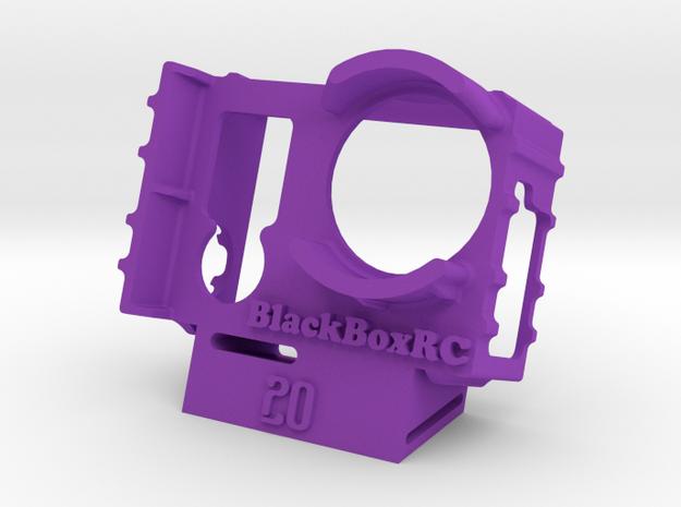 ExoPro GoPro 3 & 4 WEDGE Case (20deg) in Purple Strong & Flexible Polished