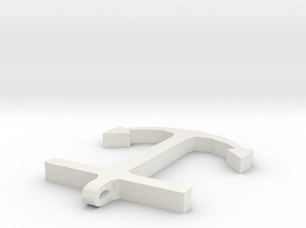 Anchor Half Scale 2-Circle in White Natural Versatile Plastic