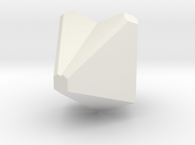 Cassiterite 175 in White Natural Versatile Plastic