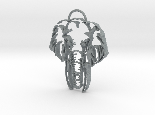 Eleph Ant in Polished Metallic Plastic
