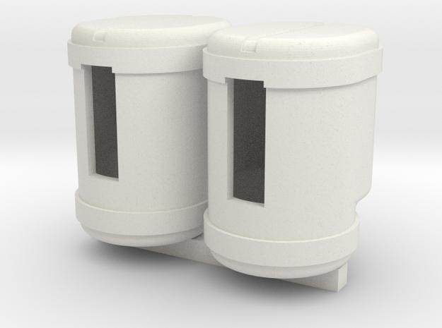 2 200 gallon saddle tanks in White Natural Versatile Plastic