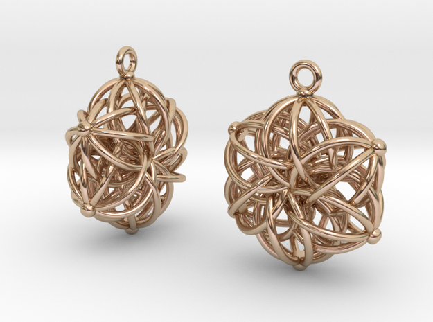 Tangle Earrings in 14k Rose Gold Plated Brass