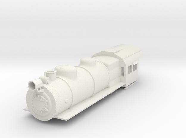 PRR E6 S Scale Boiler and Cab Shell in White Natural Versatile Plastic