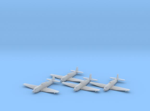 Heinkel He 100D 1:200 x4 FUD in Smooth Fine Detail Plastic