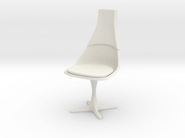 """TOS Chair 115 1:10 Scale 7"""" in White Natural Versatile Plastic"""
