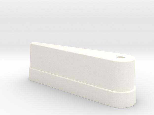 CSF#2 - 2 7-8 Inch Bat - Pinball Flipper Bat in White Processed Versatile Plastic