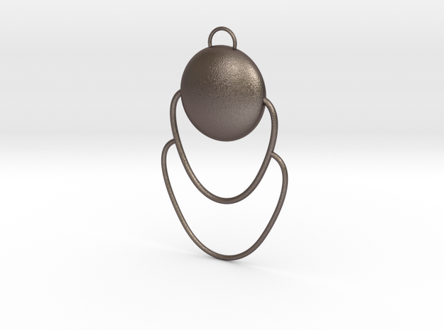 Design 8 in Polished Bronzed Silver Steel