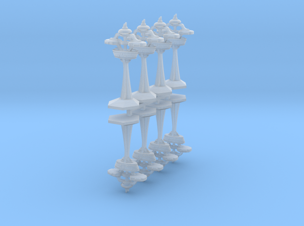 """MicroFleet """"Alamo""""-Class Defense Outposts (8pcs) in Frosted Ultra Detail"""
