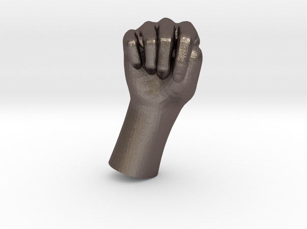 1/10 Hand 025 in Polished Bronzed Silver Steel