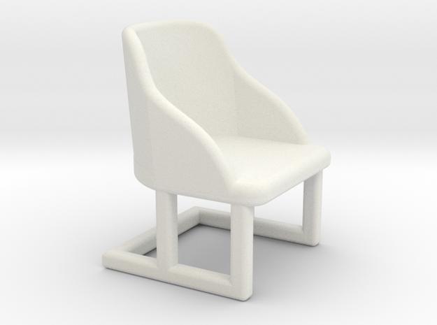 Chair, Art Deco 1:48 in White Natural Versatile Plastic
