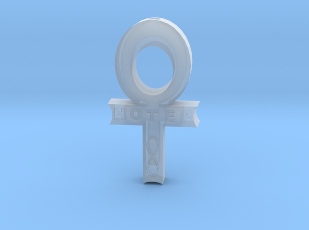 Hollow Hotep Ankh in Smooth Fine Detail Plastic
