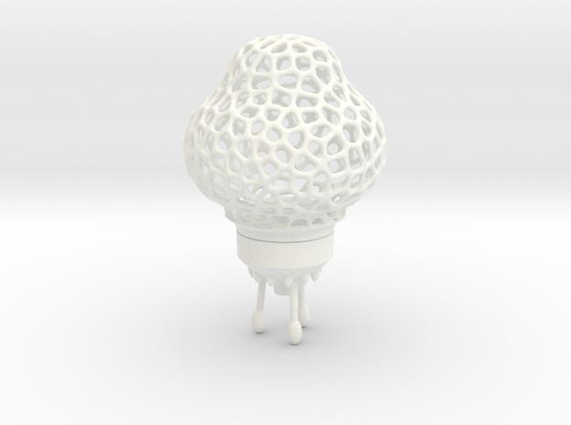 Space Rocket LED tealight lamp in White Processed Versatile Plastic