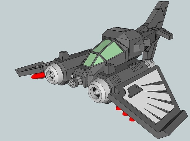 6mm DarkClaw Fighter-Bomber (4pcs) in Smooth Fine Detail Plastic