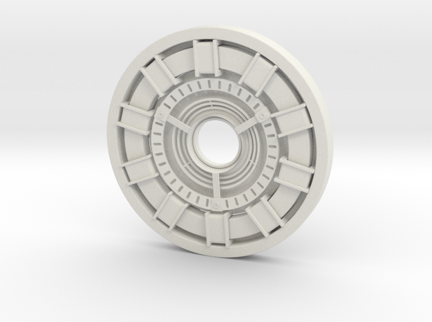 Arc Reactor in White Natural Versatile Plastic