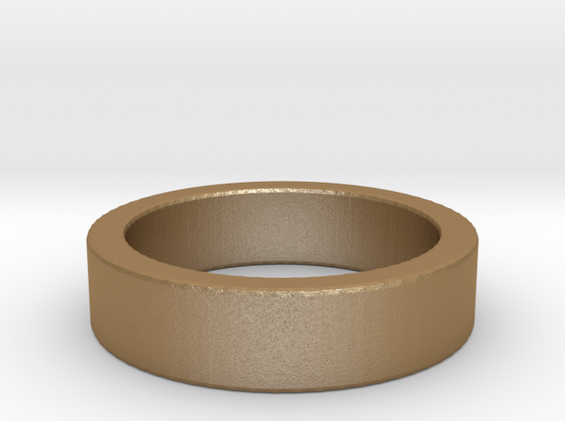 Basic Ring US6 1/4 in Matte Gold Steel