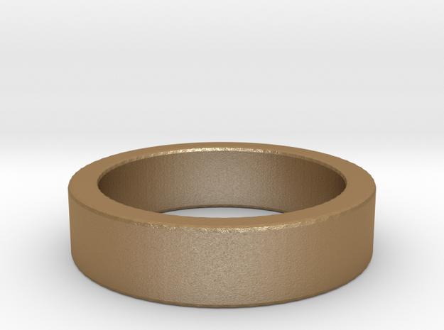 Basic Ring US6 1/4 in Matte Gold Steel