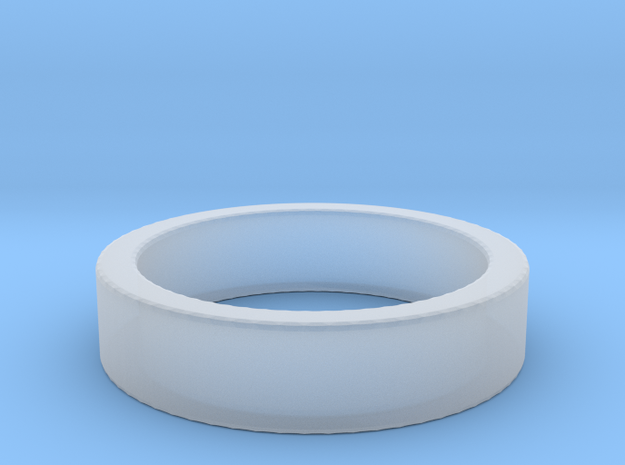 Basic Ring US7 1/4 in Smooth Fine Detail Plastic