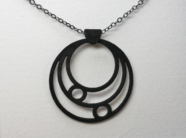 Celestial Circles in Black Natural Versatile Plastic