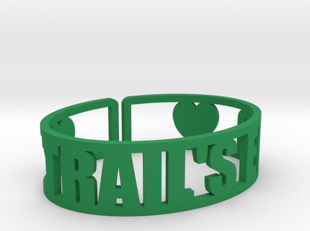 Trail's End Cuff in Green Processed Versatile Plastic