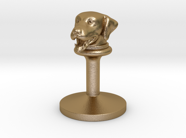 doggy wax seals stamp (20mm) in Polished Gold Steel