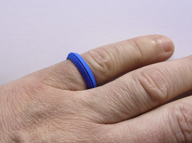 CS01-triangle in Blue Strong & Flexible Polished