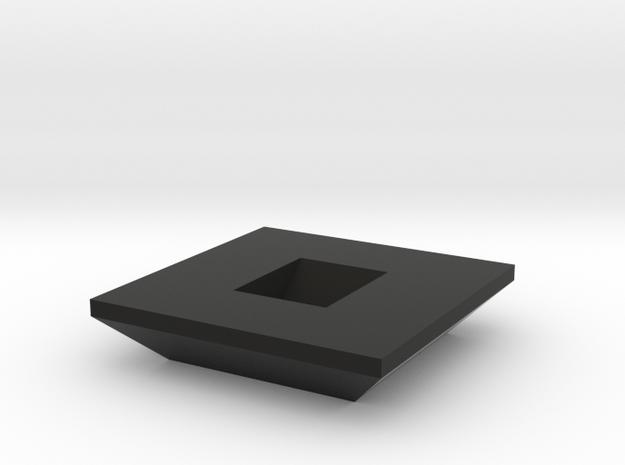 Rubiks Cube Stand v1  in Black Natural Versatile Plastic