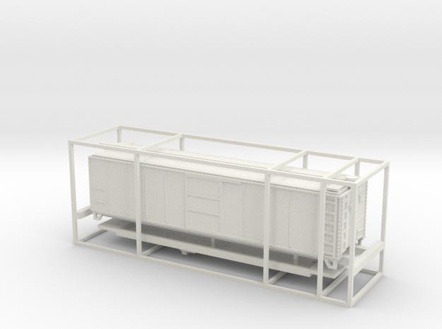 PRR N Scale X29 Boxcar Coarse Details in White Natural Versatile Plastic