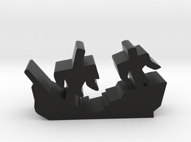 Game Piece, Shipwreck Sails in Black Natural Versatile Plastic