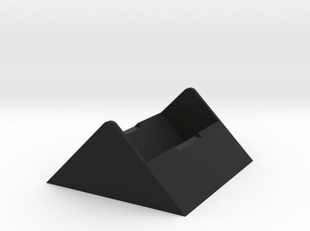 Rubiks Cube Stand  in Black Natural Versatile Plastic