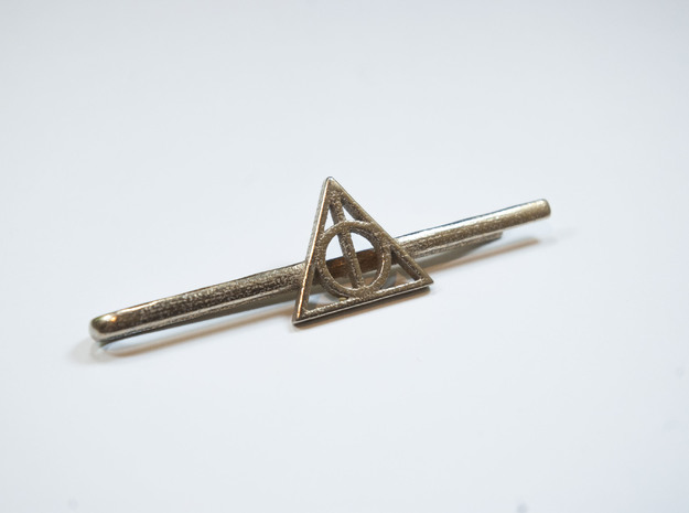 Harry Potter: Deathly Hallows Tie Clip 3d printed Stainless Steel