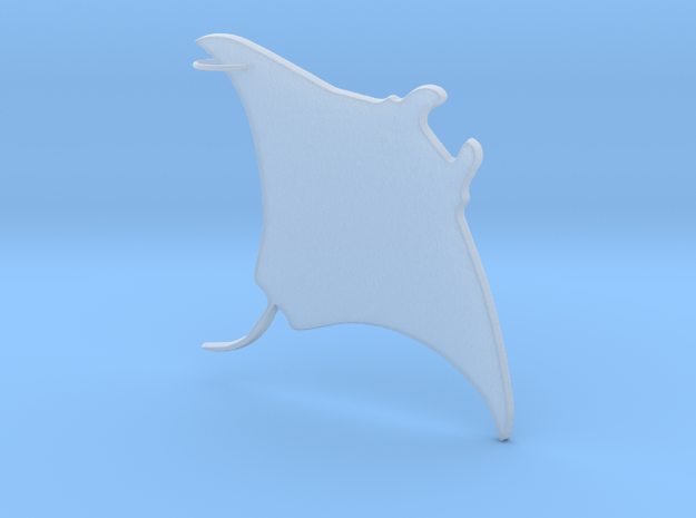 Manta Ray Pendant in Frosted Ultra Detail