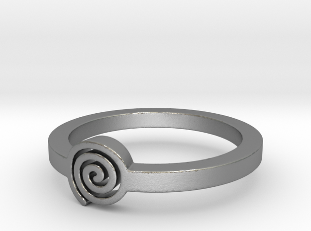 Spiral Ring Size 11 in Natural Silver