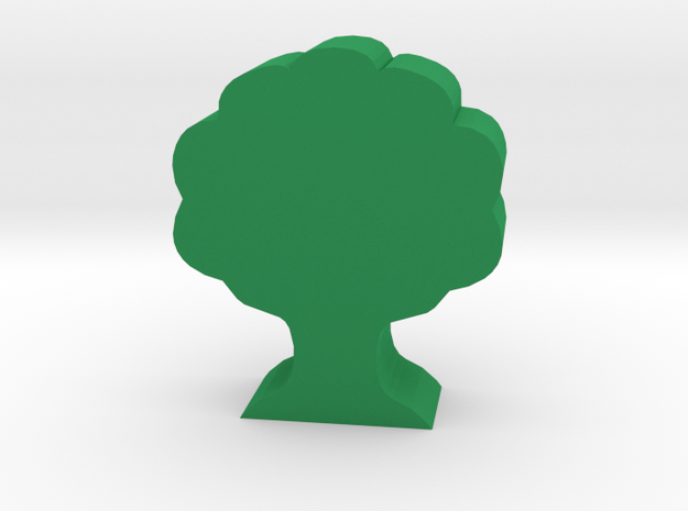 Game Piece, Oak Tree in Green Processed Versatile Plastic