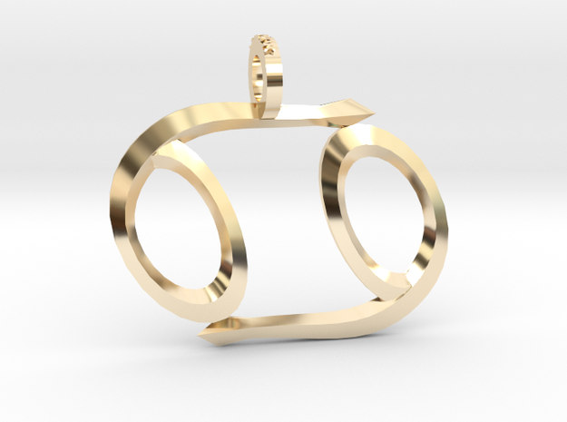 Cancer (Zodiac)- Pendant in 14k Gold Plated Brass